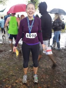 Herts 10k, run, mud